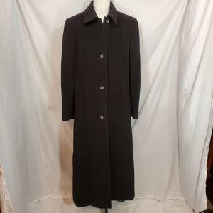 Preston & York 100% Wool Black Trench Coat